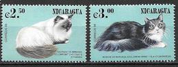 Nicaragua 2000 N°2373/2374 Neufs Avec Chats - Chats Domestiques