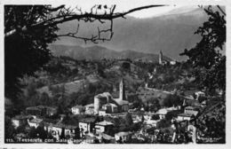 Italy Tesserete Con Sala Capriasca Church Panorama Postcard - Otros