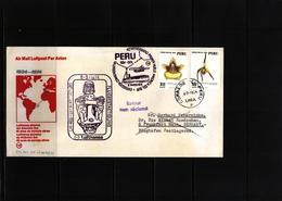 Peru 1974 Lufthansa Inaugural Flight Lima - Frankfurt - Peru