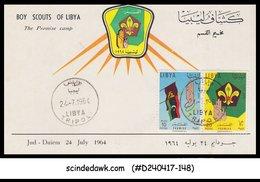 LIBYA - 1964 BOY SCOUTS OF LIBYA - 2V - FD CARD - Libyen