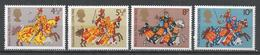 Great Britain 1974. Scott #724-7 (MNH) Great Britons On Caparisoned Chargers ** Complet Set - 1952-.... (Elizabeth II)
