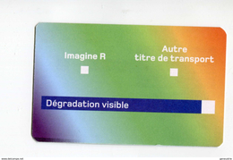 Carte Provisoire Vierge Type 1  SNCF / RATP Délivrée En Cas De Déterioration Du Titre Principal - Ticket RER Métro Paris - Subway