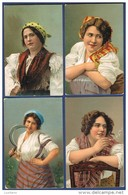 Set Of 4 Postcards - Costumi Napoli ?? Edictor Stengel Dresden - Italia Italy - Napoli