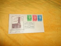 ENVELOPPE FDC DE 1949. / RETIRO DE COMUNICACIONES CACHETS + TIMBRES X3.. - FDC