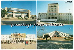 ALBANIA/SHQIPERIA - GREETING FROM ALBANIA / SOME IMPORTANT BUILDINGS IN TIRANA / THEMATIC STAMP-UNICEF - Albania