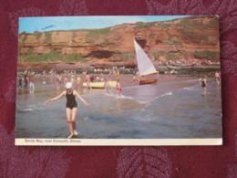 "Great Britain 1968 Postcard "" Sandy Bay Exmouth Devon"" To England - Machin Stamp 4d - United Kingdom"
