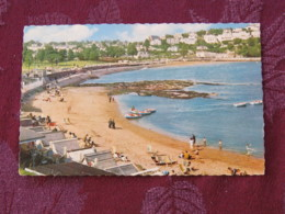 """Great Britain 1968 Postcard """" Torquay Abbey Sands """" South Devon (mental Handicap Slogan) To England - Machin Stamp 3+1d - Ver. Königreich"""