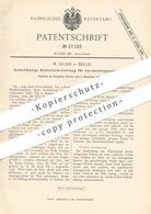 Original Patent - W. Hujan , Berlin , 1884 , Türschloss   Tür , Schloss   Türband , Türen , Schlosser , Schlosserei !!! - Historische Dokumente