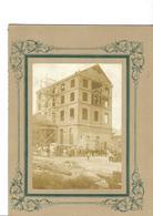 CHANTIER De Construction Photo  20  X  26  Sur Carton TBE  Attelage Voiture  Ouvriers  Bt  3 étages - Documents Historiques
