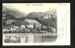 AK Weesen, Ortsansicht Mit Hotel Mariahalden - SG St. Gall
