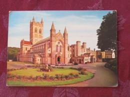 """Great Britain 1968 Postcard """" Buckfast Abbey Devon"""" Plymouth Slogan To England - Machin Stamp 4d - Ver. Königreich"""