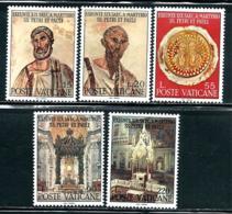 "Vatican City     ""Apostles Peter & Paul""      Set     SC# 448--52     MNH - Unused Stamps"