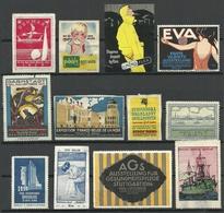 Lot Vignetten Advertising Stamps NB! Defects !! - Cinderellas