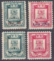 ITALIA, Emissione Locale CASTIGLIONE D'INTELVI - 1945 - Lotto 4 Valori Nuovi MNH: Unificato 14, 15, 18 E 19. - 5. 1944-46 Lieutenance & Umberto II
