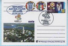 UKRAINE Post Card Poland Football Soccer. UEFA. EURO 2012 Quarter-final The Result Of The Match England - Italy. Kyiv. - Ukraine