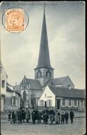 St Kwintens  Lennik   /     De Kerk  / Prachtige Animatie  / Café Rooselaer ESTAMINET  // SBP Kaart - Lennik