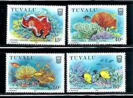 "Tuvalu       ""Marine Life""       Set    SC# 465-68    MNH - Tuvalu"