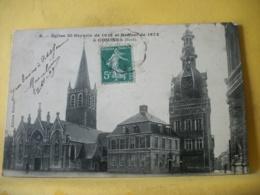 L12 8919 - CPA 1909 - 59 EGLISE ST GRYSOLE DE 1615 ET BEFFROI DE 1673 A COMINES. - France