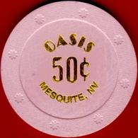 50¢ Casino Chip. Oasis, Mesquite, NV. I09. - Casino