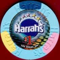 $1 Casino Chip. Harrahs, Las Vegas, NV. I09. - Casino