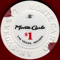 $1 Casino Chip. Monte Carlo, Las Vegas, NV. I09. - Casino