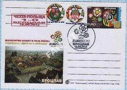 UKRAINE / Post Card / Poland / Football Soccer UEFA EURO 2012. Match Result Czech Republic - Poland. Wroclaw. - Ukraine
