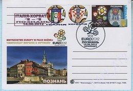 UKRAINE / Post Card / Poland / Football Soccer UEFA EURO 2012. The Result Of The Match Italy - Croatia. Poznan. - Ukraine