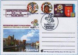 UKRAINE / Post Card / Poland / Football Soccer UEFA EURO 2012. The Result Of The Match Croatia - Spain. Gdansk. - Ukraine