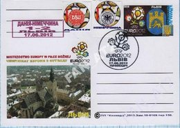 UKRAINE / Post Card / Poland / Football Soccer UEFA EURO 2012. The Result Of The Match Germany - Portugal. Lviv. - Ukraine