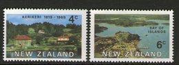 NEW ZEALAND, 1969 EARLY SETTLEMENTS 2 MNH - New Zealand