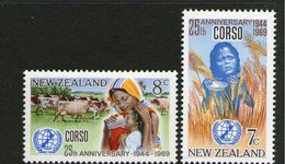 NEW ZEALAND, 1969 CORSO 2 MNH - New Zealand