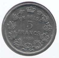 ALBERT I * 5 Frank / 1 Belga 1930 Frans  Pos B * Nr 4513 - 1909-1934: Albert I