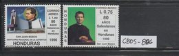 MNH Full Set Honduras Set 1990 Salesian Order 80th Anniversary Don Bosco Scott C805-C806 - Famous People