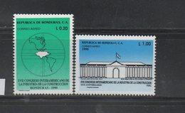 MNH Full Set Honduras Set 1990 17th Interamerican Congress Of Industry And Construction Scott C800-C801 - Honduras