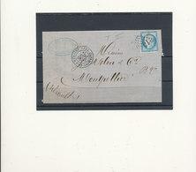 N°60B TYPE II VARIETE SUR LETTRE. - 1871-1875 Ceres