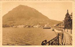 Switzerland Lugano Quai E Paradies Lake General View Postcard - Suiza