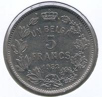 ALBERT I * 5 Frank / 1 Belga 1932 Frans Pos B * Nr 5397 - 1909-1934: Albert I