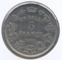 ALBERT I * 5 Frank / 1 Belga 1932 Frans Pos A * Nr 5402 - 09. 5 Francos & 1 Belga