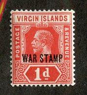 W-13121 Virgin Is. 1916 Sc.#MR1* Offers Welcome! - Iles Vièrges Britanniques