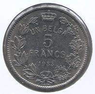 ALBERT I * 5 Frank / 1 Belga 1933 Frans Pos A * Nr 5372 - 1909-1934: Albert I