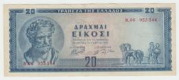 Greece 20 Drachmai 1955 VF++ Pick 190 - Grèce
