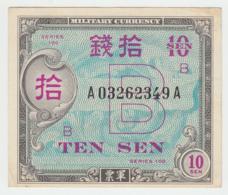 JAPAN 10 SEN 1945VF+ Pick 63 - Japón