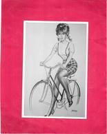 ILLUSTRATEUR GOURDON - Jeune Fille à Vélo - Tirage Limité  N°220/1000 - DELC2/BES - - Gourdon