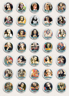 Joan Bennett Movie Film Fan ART BADGE BUTTON PIN SET 6 (1inch/25mm Diameter) 35 X - Films