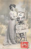 CPA COLORISEE FETE - BONNE ANNEE - Vive La Sainte MADELEINE 1911 -   - BES1 - - Fêtes - Voeux
