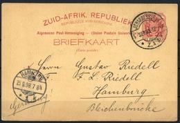 1896, Transvaal, P 4, Brief - Briefmarken