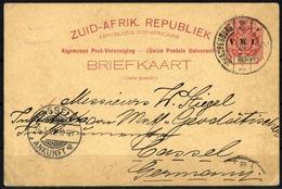1900, Transvaal, P 9, Brief - Briefmarken