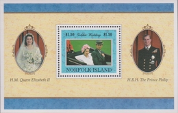 Norfolk Island ASC 636 MS 1997 Gold Wedding, Miniature Sheet, Mint Never Hinged - Norfolk Island