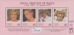 Norfolk Island ASC 652 MS 1998 Princess Diana, Miniature Sheet, Mint Never Hinged - Norfolk Island