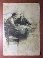 RARE Vintage USSR Russian Postcard 1947 STALIN And LENIN. Artist Vasiliev - Russia